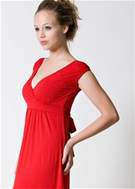 Queen Bee 9th Street Maternity Nursing Dress in Red by Dote Nursingwear