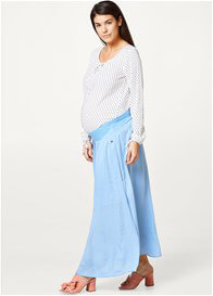 Esprit - Sky Blue Gathered Maxi Skirt