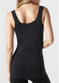 Blanqi - Postpartum Underbust Nursing Support Tank in Black
