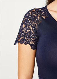 Esprit - Lace Sleeve Dress in Night Blue