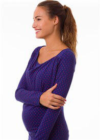 Pomkin - Milkizzy Prisca Breastfeeding Top in Blue Print