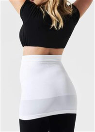 Blanqi - Built-in Support Belly Band in White