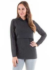 Lait & Co - Billey Breastfeeding Hoodie in Dark Grey