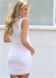 Floressa - Portia Nursing Tank Dress in White