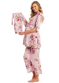 Everly Grey - Analise Mommy & Me PJ Gift Set in Dusty Rose