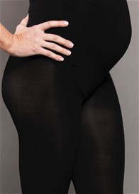 Queen Bee Opaque Baby Bump Maternity Tights by Ambra