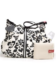 Queen Bee Amanda Baby Nappy Bag in White Floral by Babymel