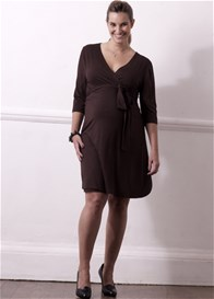 Queen Bee Enchanted Jersey Wrap Maternity Dress by Trimester Clothing