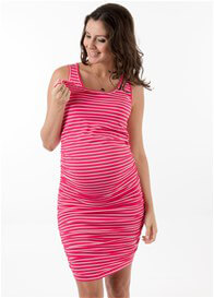 Floressa - Landon Nursing Tank Dress in Pink Stripe