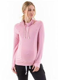 Lait & Co - Ayette Cowl Neck Nursing Pullover in Pink