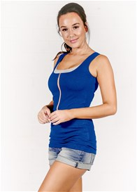 Molly Ades - Zip Nursing Tank in Cobalt Blue