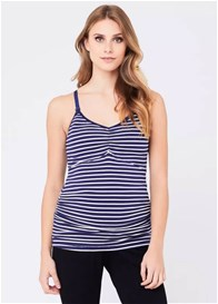 Ripe Maternity - Navy Striped Ultimate Feeding Tank - ON SALE