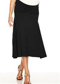 Queen Bee Obsession Jersey Maternity Skirt in Black by Trimester Clothing