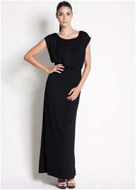Queen Bee Noir Maxi Nursing Dress in Black by Dote Nursingwear