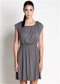Queen Bee Noir Nursing Dress in Grey by Dote Nursingwear