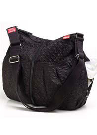 Queen Bee Amanda Quilted Baby Nappy Bag in Black by Babymel
