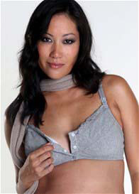 Queen Bee Nina Grey Maternity/Nursing Bra by QueenBee