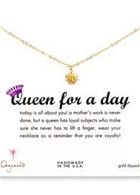 Queen Bee Queen For a Day Gold Dipped Necklace by Dogeared