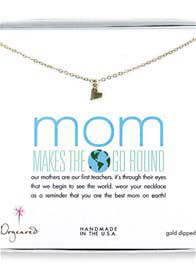 Queen Bee Mom Makes The World Go Round Sideways Heart Necklace by Dogeared