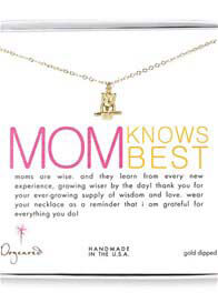 Queen Bee Mother Knows Best Necklace w Large Owl Charm by Dogeared
