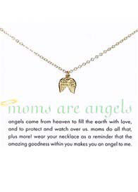 Queen Bee Moms Are Angels Necklace w Angel Wings Charm by Dogeared
