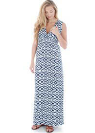 Queen Bee Jill Batik Maternity Maxi Dress by Everly Grey