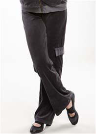 Queen Bee Velour Cargo Pocket Maternity Track Pants by Maternal America