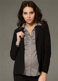 Queen Bee Manhattan Black Maternity Blazer/Jacket by Ripe Maternity