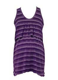 Queen Bee Musing Purple Maternity/Nursing Tank Top by Trimester Clothing