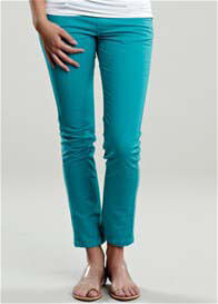 Queen Bee Turquoise Skinny Maternity Jeans by Maternal America