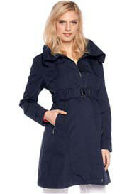 Queen Bee Navy Blue Maternity Parka Trench Coat by Esprit