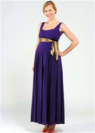 Queen Bee Imani Purple Maternity/Nursing Evening Maxi Dress by Pomkin