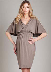 Queen Bee Heather Braided Back Maternity Dress by Maternal America