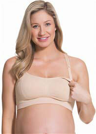 Queen Bee Nude Cotton Candy Maternity Nursing Bra by Cake Lingerie