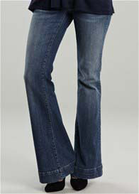 Queen Bee Classic Wash Bootcut Maternity Jeans by Maternal America