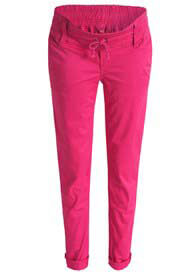 Queen Bee Maternity Chino Pants in Azalea Red by Esprit