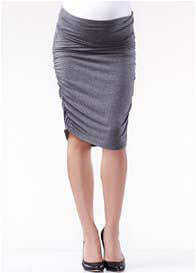 Queen Bee Ruched Maternity Skirt in Charcoal by Soon Maternity