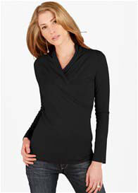 Queen Bee Analeigh Black Maternity/Nursing Top by Floressa Clothing