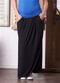 Queen Bee Tamara Black Maternity Maxi Skirt by Floressa Clothing