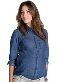 Queen Bee Blue Denim Maternity Shirt by Esprit