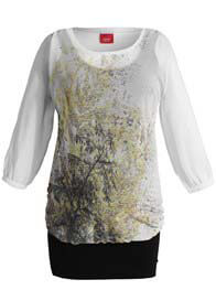 Queen Bee Autumn Print Layered Maternity Tunic by Esprit
