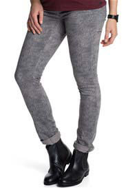 Queen Bee Pigeon Grey Slim Leg Maternity Pants by Esprit