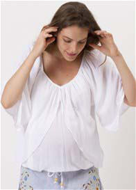 Queen Bee Fairytale Maternity Nursing Top in White by Fillyboo