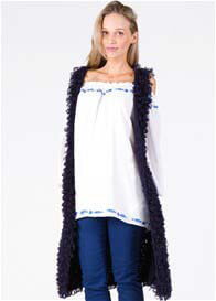 Fillyboo - Stay Gold Long Vest in Navy - ON SALE