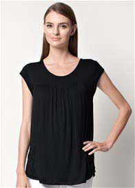 Queen Bee Lindsay Pocket Nursing Top in Black by Dote Nursingwear