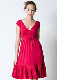 Queen Bee 9th Street Nursing Dress in Fuchsia Red by Dote Nursingwear