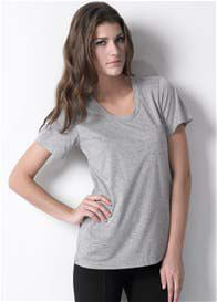 Queen Bee Pocket Nursing Tee in Light Grey by Dote Nursingwear