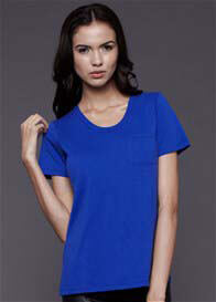 Queen Bee Pocket Nursing Tee in Blue by Dote Nursingwear