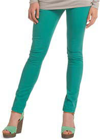 Queen Bee Crystal Green OTB Slim Leg Maternity Jeans by Esprit