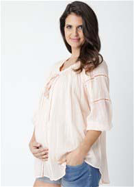 Queen Bee Cheesecloth Baby Doll Maternity Top by Ripe Maternity